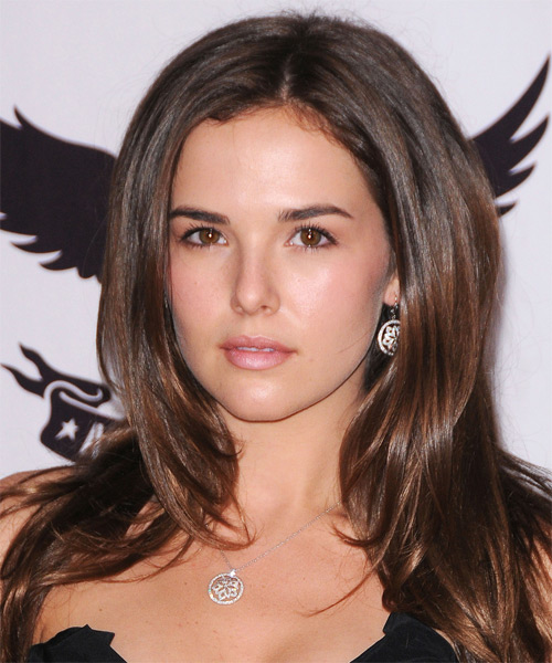 Zoey Deutch Long Straight Hairstyle - Dark Brunette