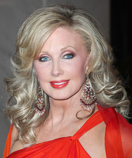 Morgan Fairchild - Formal Long Wavy Hairstyle