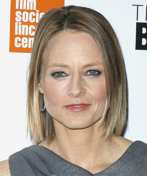 Jodie Foster Medium Straight Bob Hairstyle - Dark Blonde