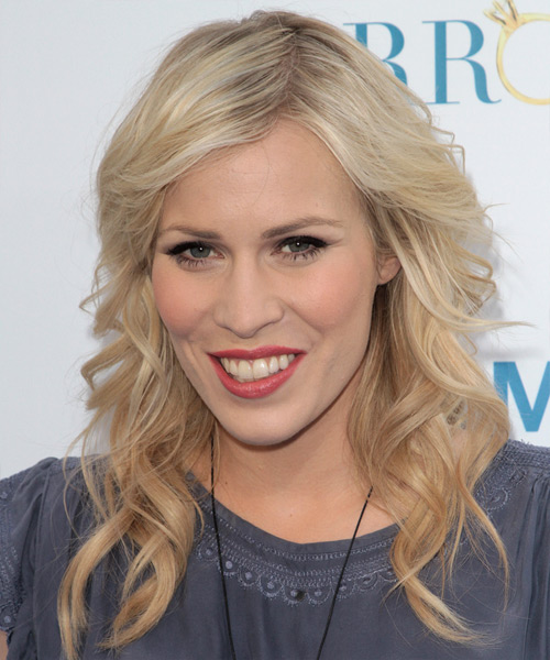 Natasha Bedingfield Long Wavy Hairstyle - Light Blonde (Platinum)