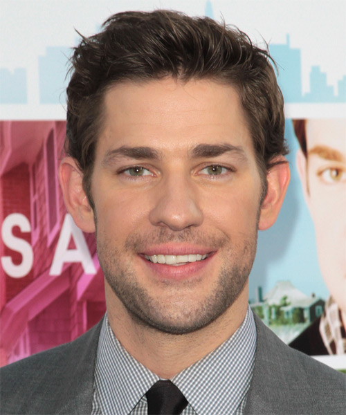 John Krasinski Short Straight Hairstyle - Medium Brunette