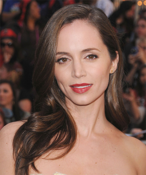 Eliza Dushku Long Wavy Hairstyle - Medium Brunette