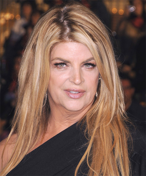 Kirstie Alley Long Straight Hairstyle - Medium Blonde