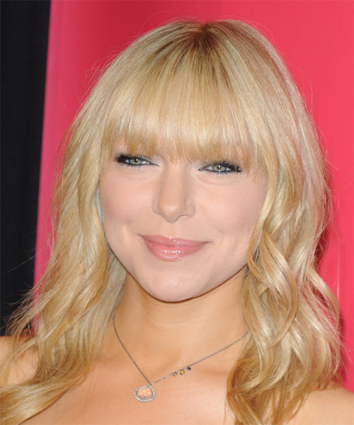 Laura Prepon Medium Wavy Casual Hairstyle - Light Blonde