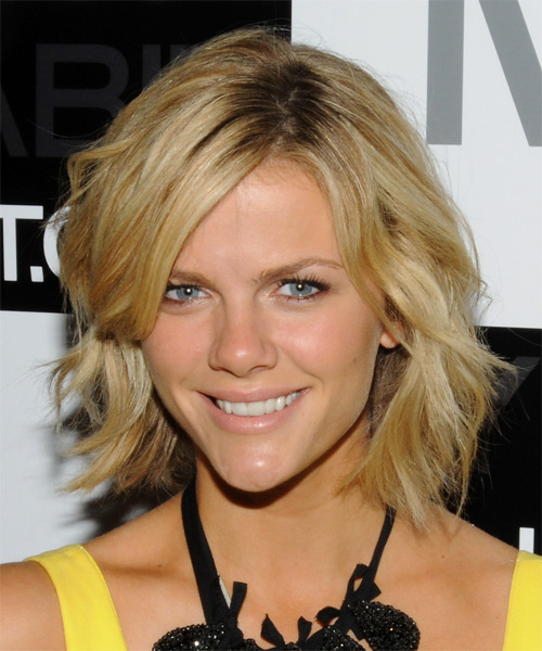 Brooklyn Decker Short Wavy Casual Hairstyle - Medium Blonde Hair Color