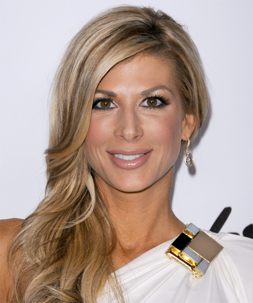 Alexis Bellino Long Straight Formal Hairstyle - Medium Blonde Hair Color