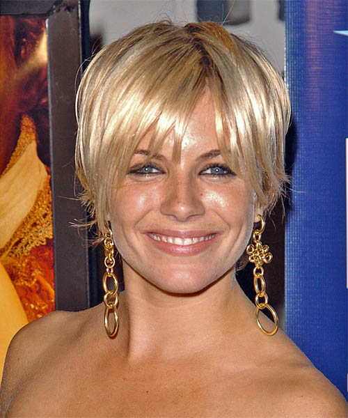 Sienna Miller Short Straight Hairstyle