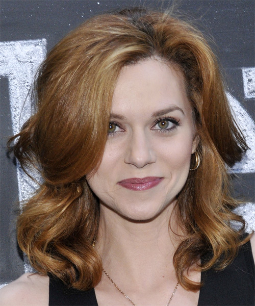 Hilarie Burton Medium Wavy Casual Hairstyle - Dark Blonde (Golden) Hair Color
