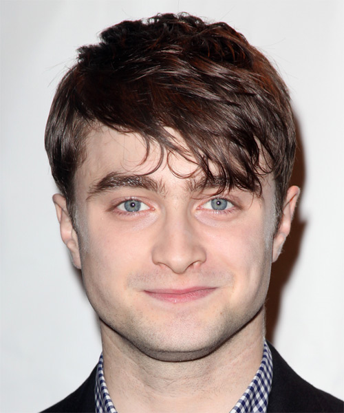 Daniel Radcliffe Short Straight Casual Hairstyle - Medium Brunette Hair Color