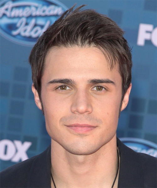 Kris Allen Short Straight Casual Hairstyle - Medium Brunette Hair Color