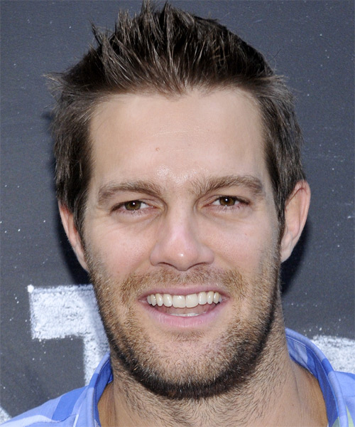 Geoff Stults Short Straight Casual Hairstyle - Dark Brunette Hair Color