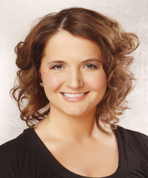 Medium Curly Formal Hairstyle - Light Brunette (Chestnut)