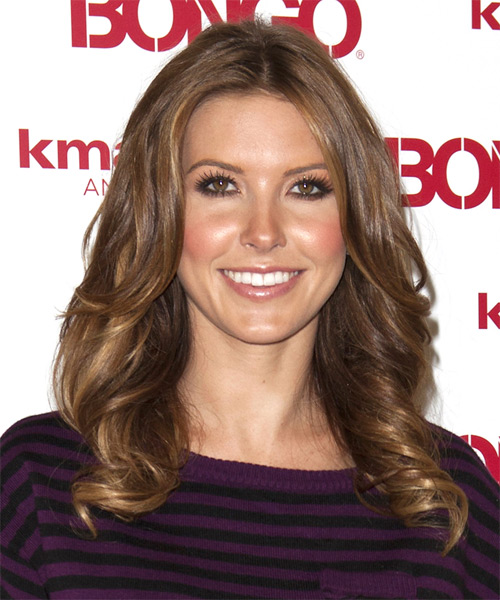 Audrina Partidge Long Wavy Hairstyle - Medium Brunette (Chestnut)