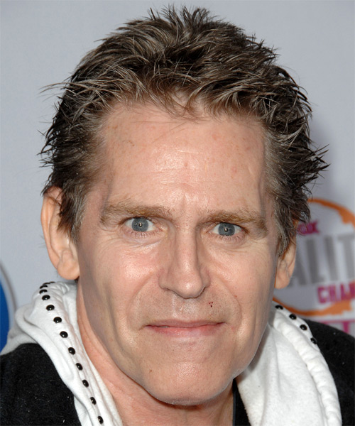 Jeff Conaway Short Straight Hairstyle - Dark Brunette (Ash)