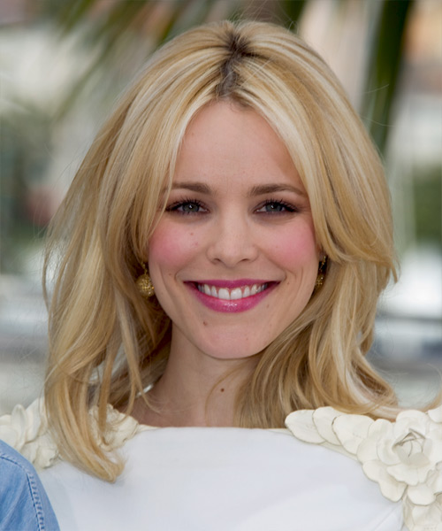 Rachel McAdams Long Straight Formal Hairstyle - Light Blonde Hair Color