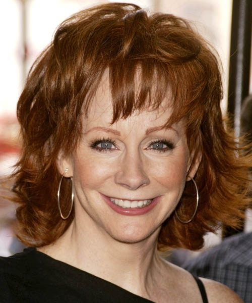 Reba McEntire Medium Straight Formal Hairstyle