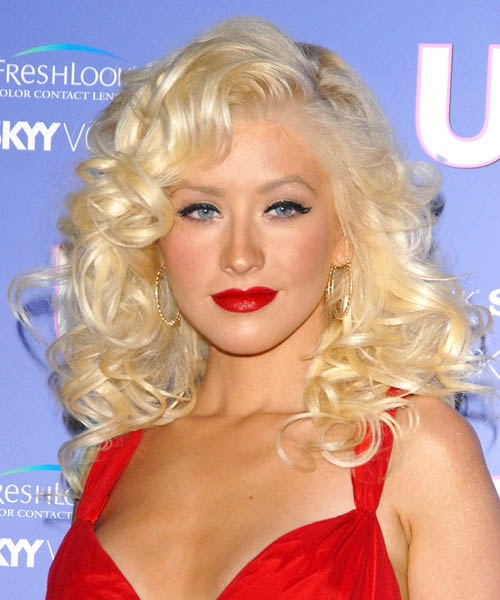Christina Aguilera Long Curly Formal Hairstyle