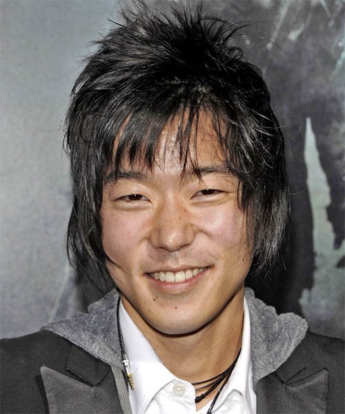Aaron Yoo Medium Straight Hairstyle - Black