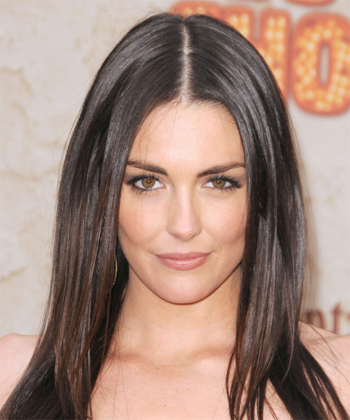 Taylor Cole Long Straight Hairstyle - Dark Brunette (Mocha)