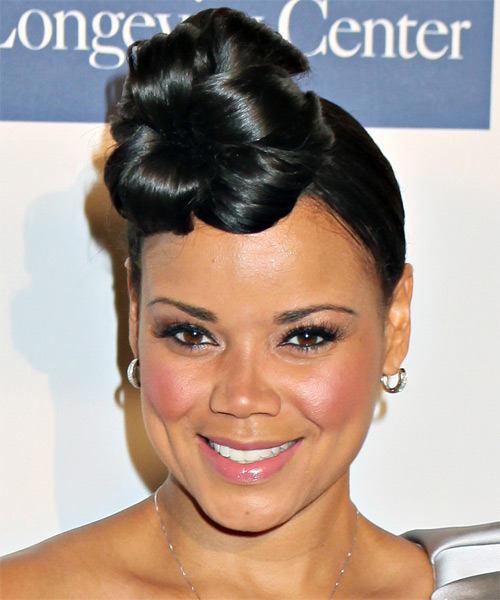 Kimberley Locke Updo Hairstyle - Black