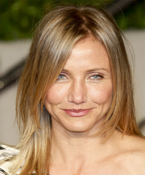 Cameron Diaz Long Straight Casual Hairstyle - Dark Blonde Hair Color