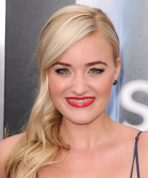 Amanda Michalka Long Wavy Formal Hairstyle - Medium Blonde Hair Color
