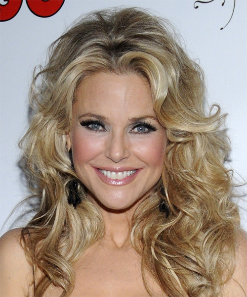 Christie Brinkley Long Curly Formal Hairstyle (Golden)