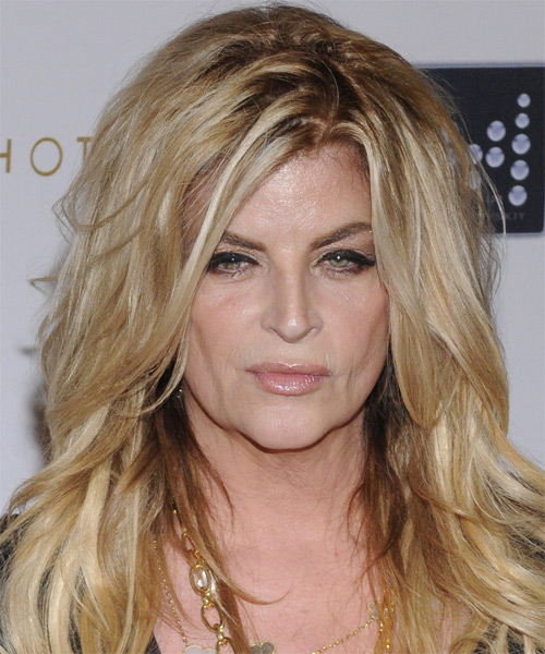 Kirstie Alley Long Straight Casual Hairstyle - Light Blonde (Golden) Hair Color