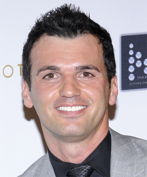Tony Dovolani Short Straight Hairstyle - Dark Brunette