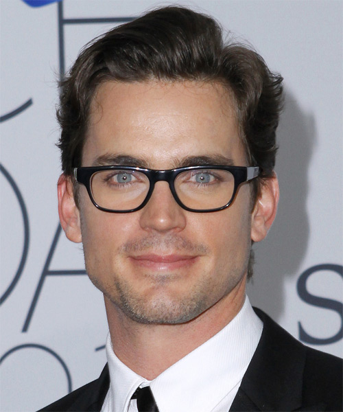 Matt Bomer Short Straight Hairstyle - Dark Brunette (Chocolate)