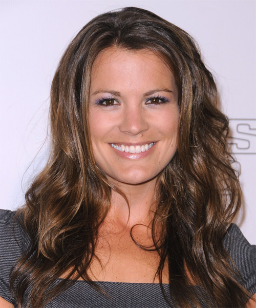 Melissa Claire Egan Long Wavy Casual Hairstyle - Dark Brunette Hair Color