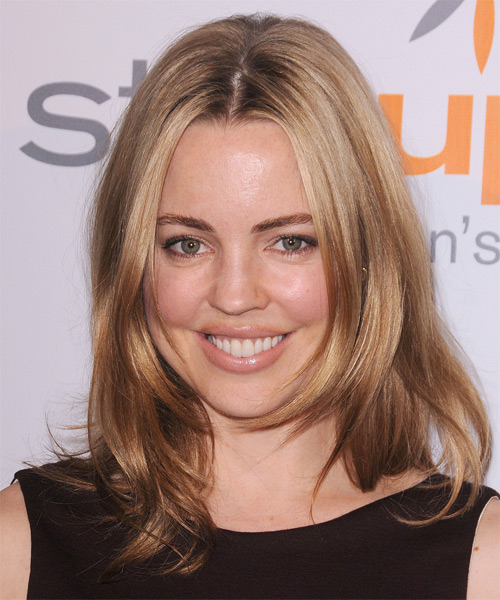 Melissa George Medium Straight Hairstyle - Medium Blonde (Caramel)