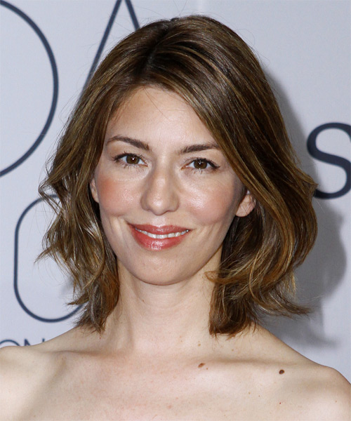 Sofia Coppola Medium Straight Casual Bob Hairstyle - Medium Brunette Hair Color