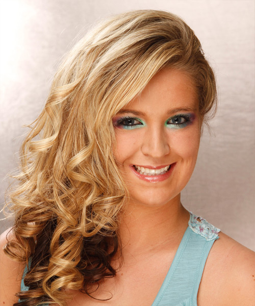 Long Curly Formal Hairstyle - Medium Blonde