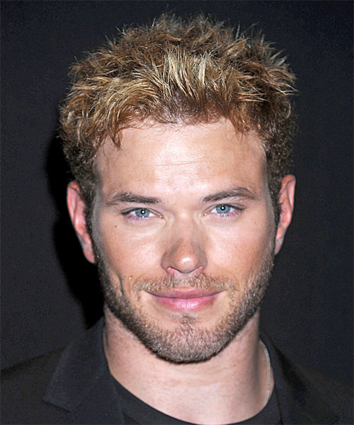 Kellan Lutz Short Straight Casual Hairstyle Dark Blonde
