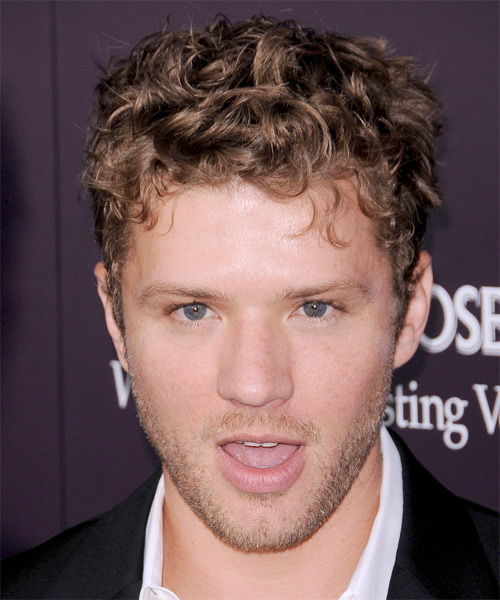 Ryan Phillippe Short Curly Casual Hairstyle - Medium Brunette Hair Color