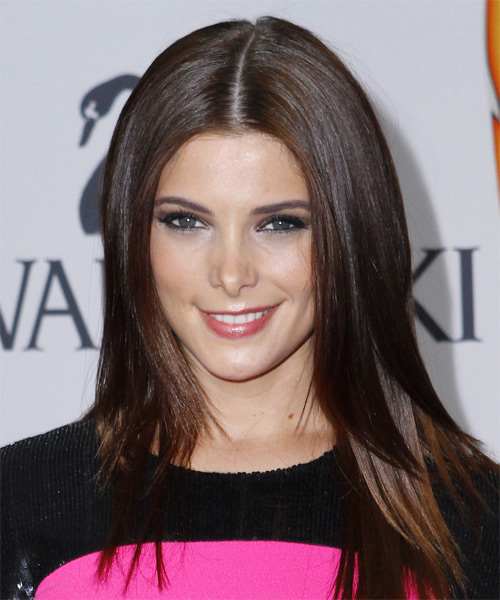 Ashley Greene Long Straight Formal Hairstyle - Dark Brunette Hair Color