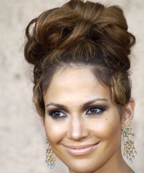 Jennifer Lopez - Formal Updo Long Curly Hairstyle