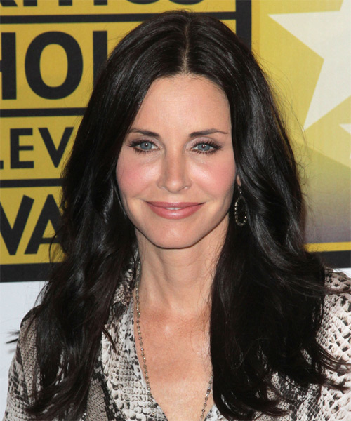 Courtney Cox Long Straight Casual Hairstyle - Black Hair Color