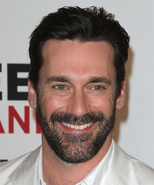 Jon Hamm Short Straight Hairstyle - Black