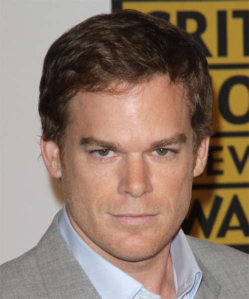 Micheal C hall Short Straight Casual Hairstyle - Medium Brunette Hair Color