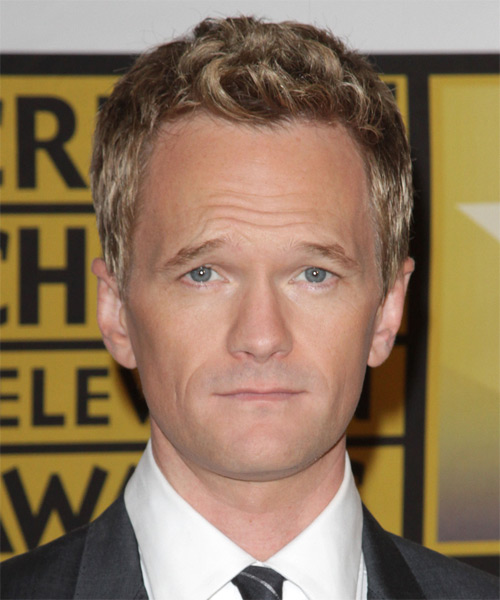 Neil Patrick Harris Short Wavy Casual Hairstyle - Dark Blonde Hair Color