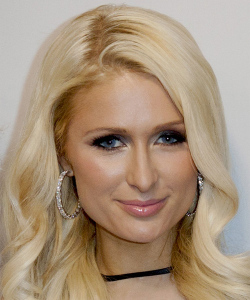 Paris Hilton Long Wavy Hairstyle - Light Blonde