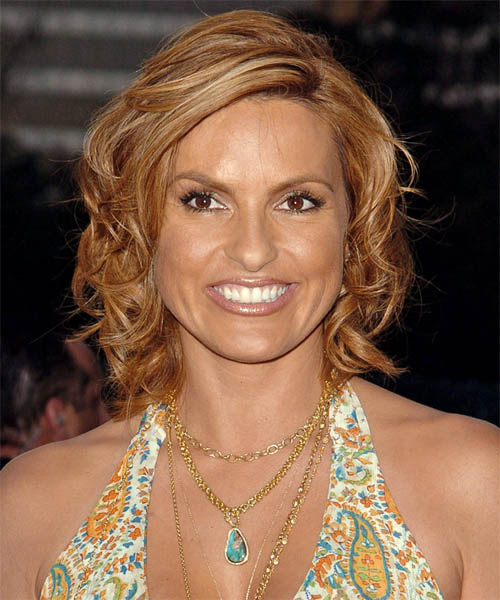 Mariska Hargitay - Formal Medium Curly Hairstyle