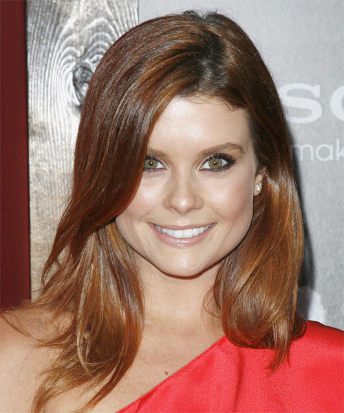 Joanna Garcia-Swisher Long Straight Hairstyle - Medium Brunette (Copper)