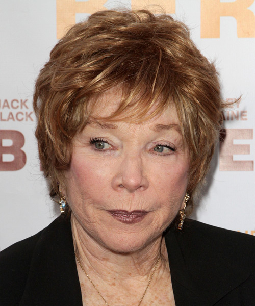 Shirley Maclaine Short Straight Hairstyle - Dark Blonde (Copper)