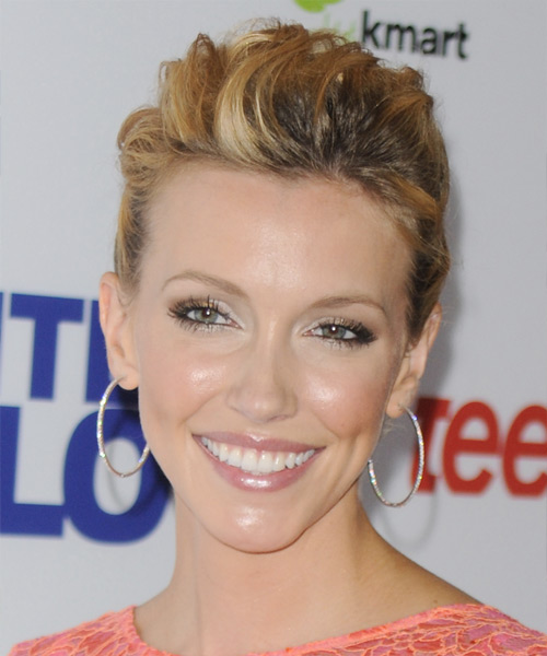 Katie Cassidy Curly Formal Updo Hairstyle - Dark Blonde (Golden) Hair Color