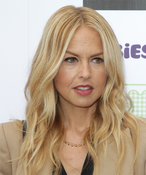 Rachel Zoe Long Wavy Casual Hairstyle - Light Blonde (Golden) Hair Color
