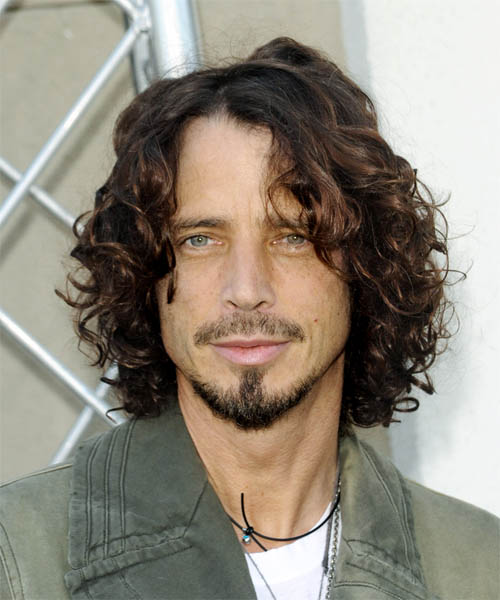 Chris Cornell - Casual Medium Curly Hairstyle