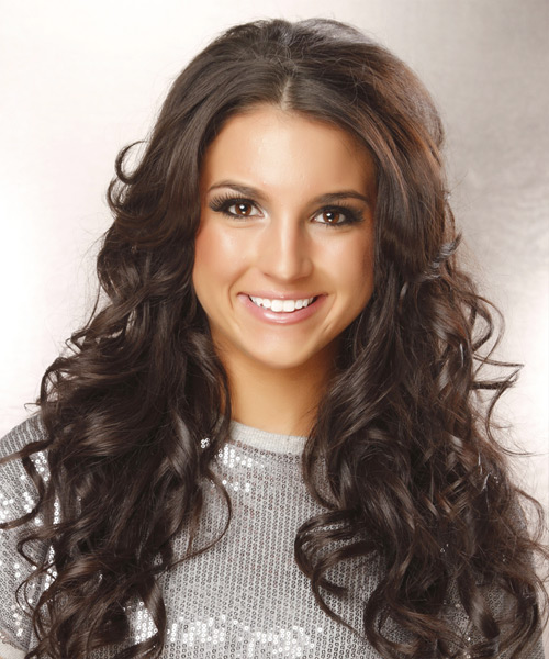 Long Wavy Formal Hairstyle - Dark Brunette (Caramel)
